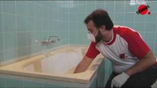 Cómo esmaltar la bañera