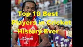 Top 10 best players ever in cricket history