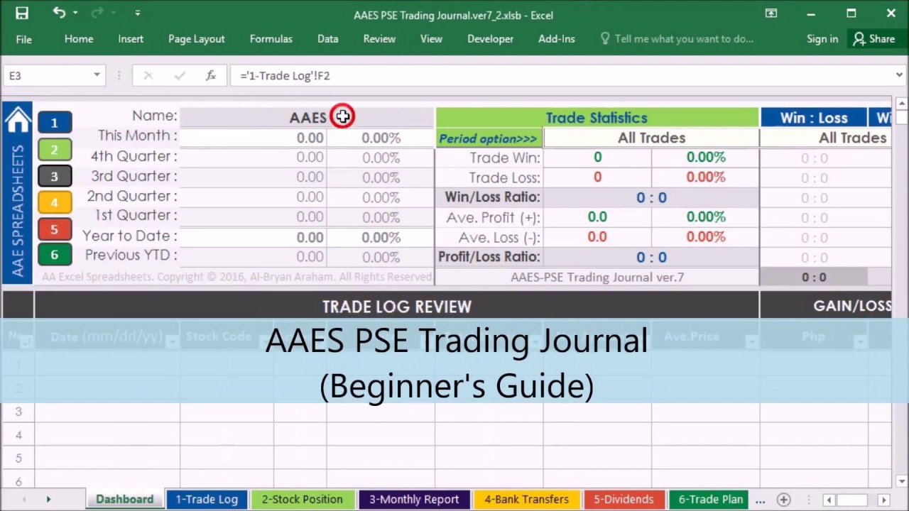 Stock Portfolio Management Excel Spreadsheet Beginner S Guide Part 1