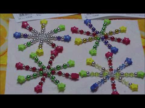 Perlensterne / Drahtsterne aus Perlen und Moosgummi