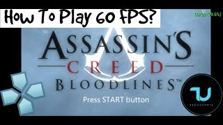 How to play Assassins Creed 60 FPS PPSSPP Android? Gameplay/Tutorial/Cheat/Hack/Max settings 5X