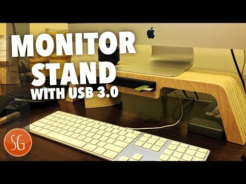 How to make a Monitor Stand with USB // Axiom CNC