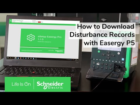 Easergy P5: How to Create and Download Disturbance Records | Schneider Electric