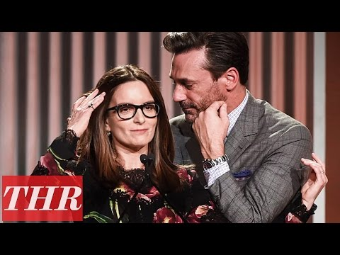 Tina Fey Full Speech (Jon Hamm Opens) at Women in Entertainment  2016 | THR