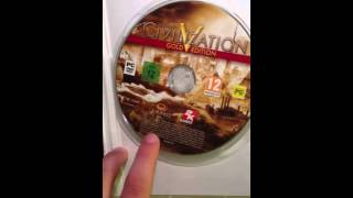 Unboxing Civilization V Gold Edition