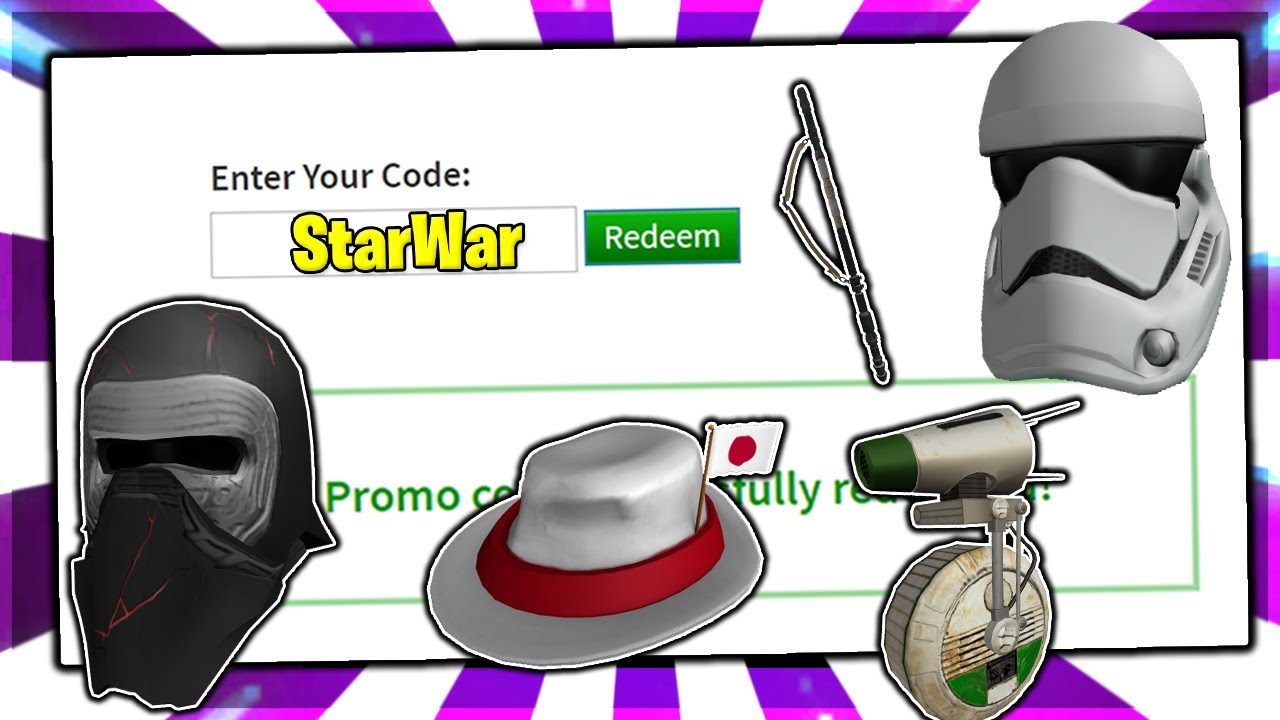 November All Working Promo Codes On Roblox 2019 Star Wars Roblox
