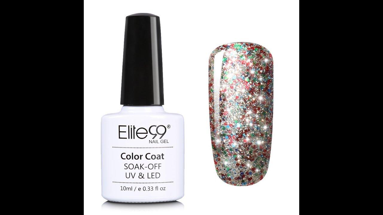 Nail Colors Youtube: Elite99 Soak Off UV LED Starry Gel Nail Polish Video