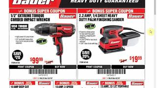 bauer 1/2 impact wrench coupon video, bauer 1/2 impact