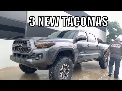 3 New Toyota Tacomas, Lifted on King & Fox Suspension