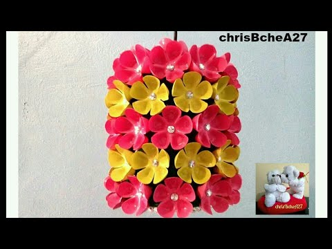DIY# 38 CHANDELIER MADE OF RECYCLED PLASTIC BOTTLES