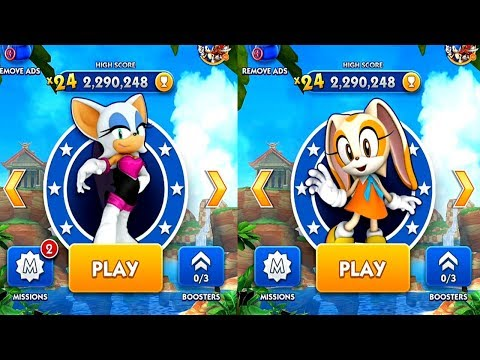 Sonic Dash ROUGE VS CREAM Android iPad iOS Gameplay HD