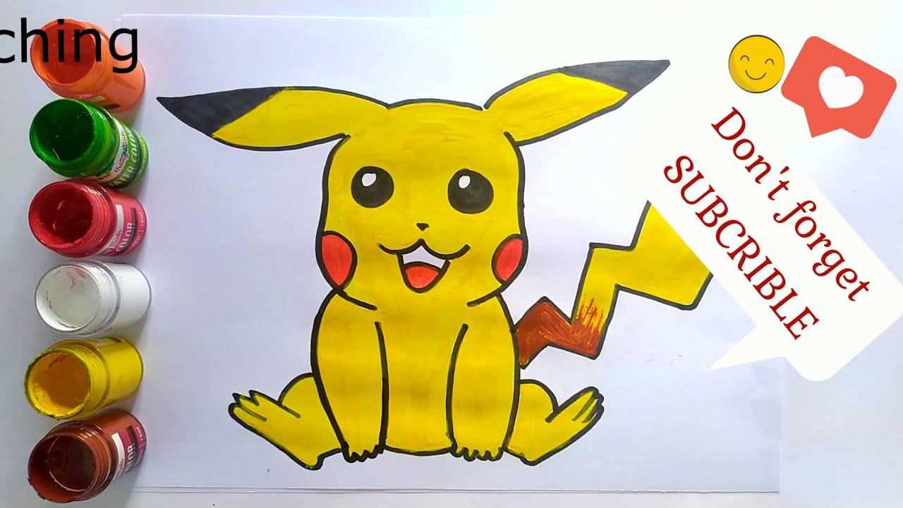 DRAW POKEMON – DRAW PIKACHU – Vẽ Pokemon Pikachu