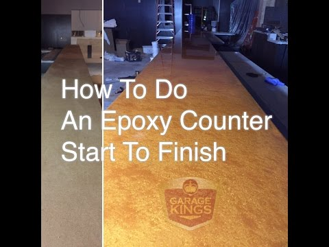 How to do an Epoxy Counter Top!