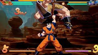 Dragonball Fighter Z: Base Goku Special Kaioken Finisher on Nappa/ Dramatic Finish