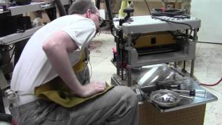 In the Shop - Installing Byrd Shelix Cutterhead in DW734 Thickness Planer