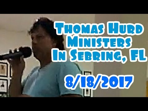 Thomas Hurd Ministers And Is Commissioned By Jeff Jansen In Sebring, FL