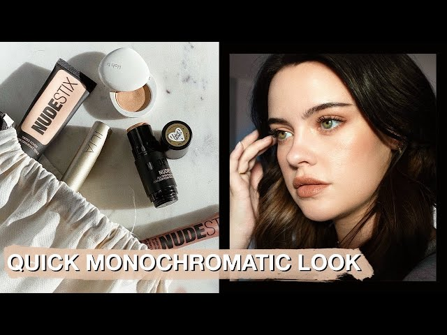 QUICK MONOCHROMATIC LOOK USING ONLY 5 PRODUCTS | Julia Adams