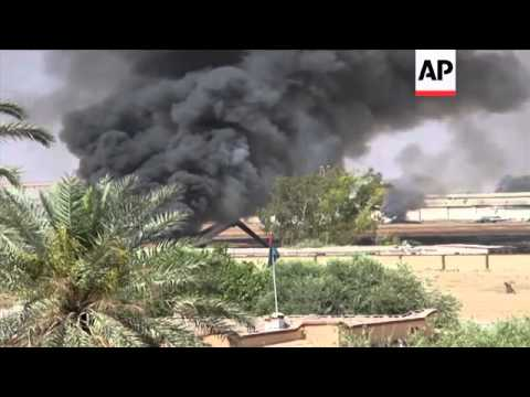 Dramatic footage obtained by The Associated Press shows rival Libyan militias battling for control f
