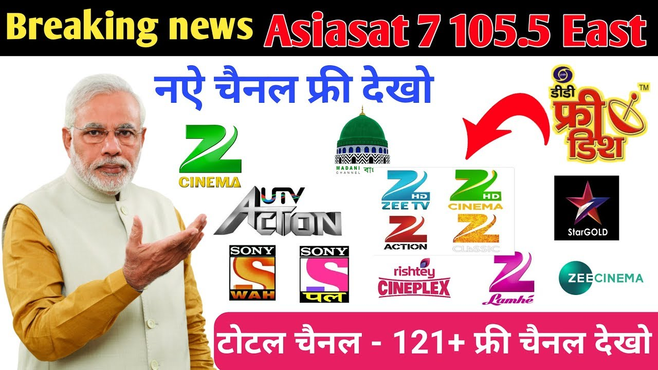 Breaking news, Asiasat 7 105 5°E new update channel list