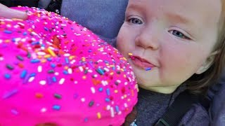 Huge Donut Vs Niko Bear Ultimate Family Vacation Routine With Dinosaurs Play Park And Swimming