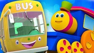 Bob el tren | ruedas del autobús | canciones infantiles | canciones para niños | Wheels on The Bus