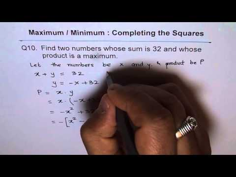 Maximum Product for Numbers with Sum of 36 Q10