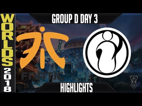 FNC vs IG Highlights   Worlds 2018 Group D Day 3   Fnatic(EULCS) vs Invictus Gaming(ChinaLPL)