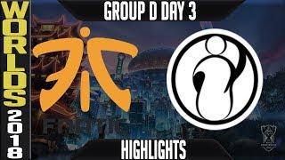 Video FNC vs IG Highlights | Worlds 2018 Group D Day 3 | Fnatic(EULCS) vs Invictus Gaming(ChinaLPL) download MP3, 3GP, MP4, WEBM, AVI, FLV Oktober 2018