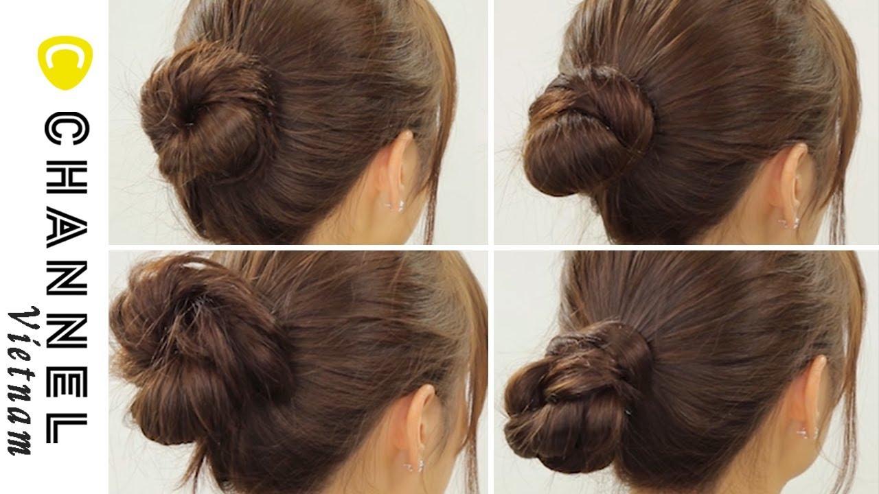 4 kiểu búi tóc cơ bản mà con gái không thể không biết