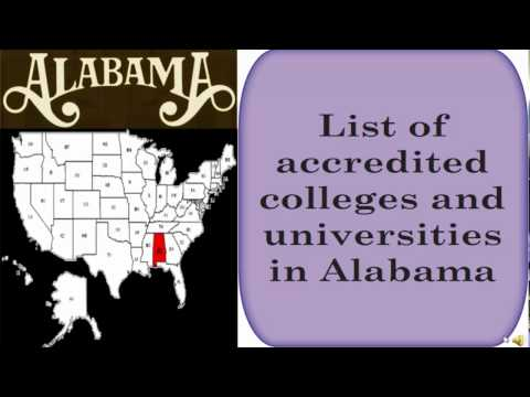List Of Accredited Colleges And Universities In Alabama