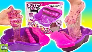 Glitzy Spa Slime Foot Bath! Put Your Feet In Slime! Doctor Squish
