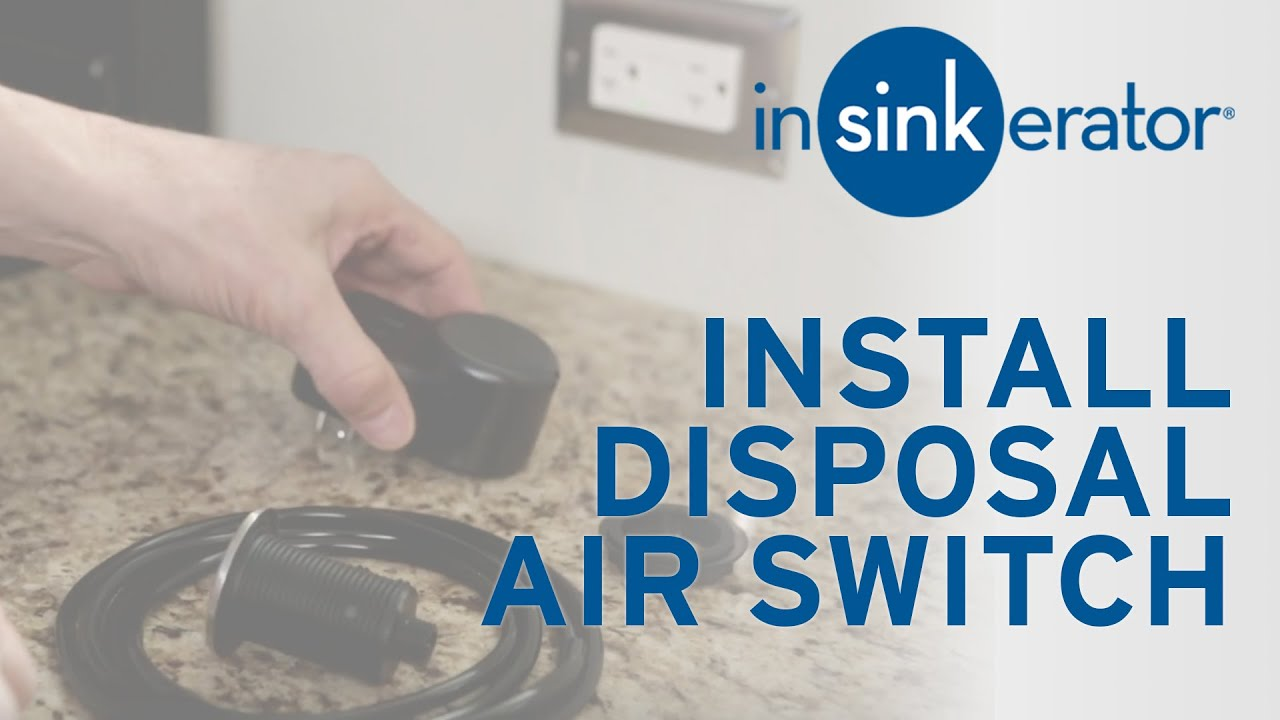 How To: Install Garbage Disposal Air Switch. InSinkErator