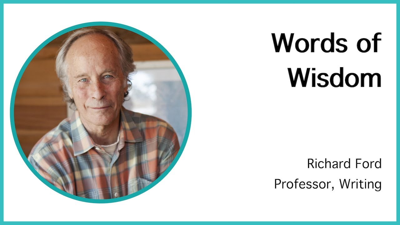 Professor Richard Ford on the Writing Program