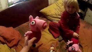 Обзор мягкой вязанной крючком  игрушки Свинка Пеппа