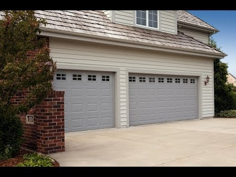 16x7 garage door16x7 Hormann grey garage door with glass NapervilleIL 630271