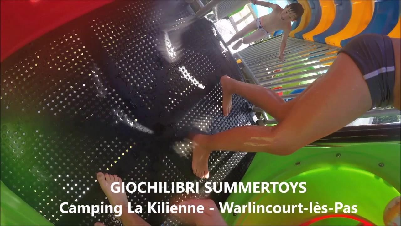 les toboggans de la piscine couverte du camping la kilienne dans le nord pas de calais