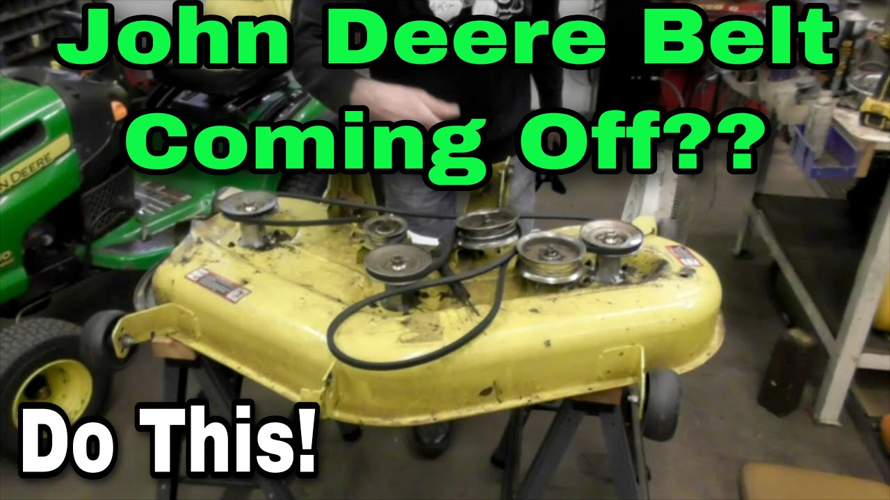 How To Fix Your Belt From Coming Off On John Deere L120 La130 Wiring Diagram A Lt180 Tractor La140 Riding Mowers With Taryl