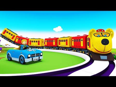 Toy Factory Cartoon Train   Choo Choo Train Videos for Children