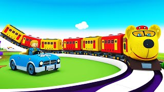 Toy Factory Cartoon Train | Choo Choo Train Videos for Children
