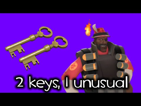 2 keys, 1 unusual - TF2 Lucky Crate Unboxing