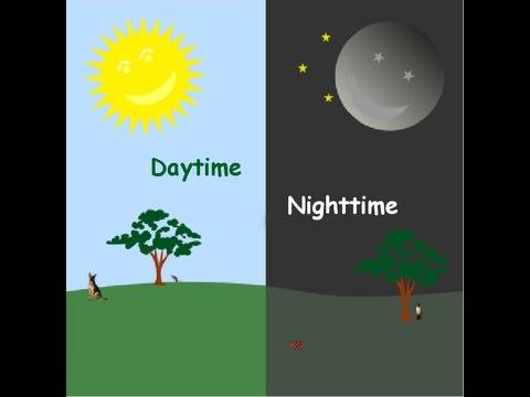 English Talking Book - Daytime And Nighttime