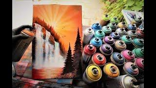 Autumn Sunset  SPRAY PAINT ART by Skech