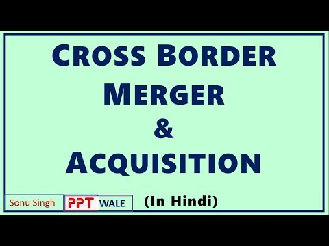 CROSS BORDER MERGERS & ACQUISITIONS IN HINDI | International Business | BBA/MBA/Bcom ppt