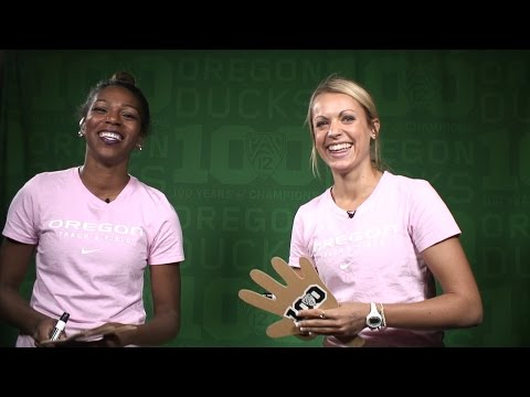 Teammate Challenge: Oregon track & fields Raevyn Rogers and Annie Leblanc