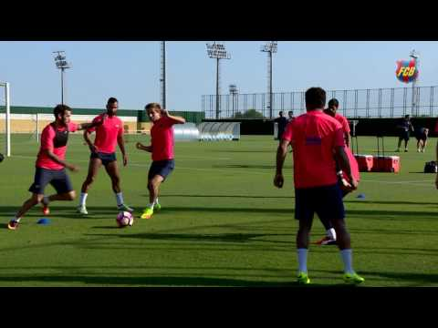 FC Barcelona's evening training session (23/07/16): Workout at the Ciutat Esportiva