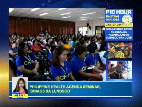 Philippine Health Agenda Seminar Idinaos sa Lungsod