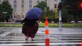 SSBBW WALKING IN THE RAIN