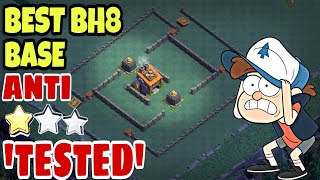 TESTED Anti 2 Star Builder Hall 8 Base w/PROOF | Anti All Troops Bh8 Base 2018 | Clash of Clans