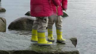 KidORCA rain boots  for kids. Wading deep. Beach walk with kids.