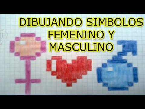 dibujando simbolo femenino y masculino